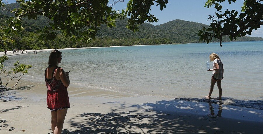 Walking on Cape Tribulation Beach